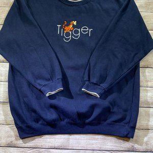 Vintage Disney Pooh Tigger Sweatshirt - Large